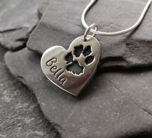 Large Pawprint Charm Necklace
